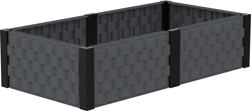 Duramax 86101 Rectangle Garden Bed (Gray)