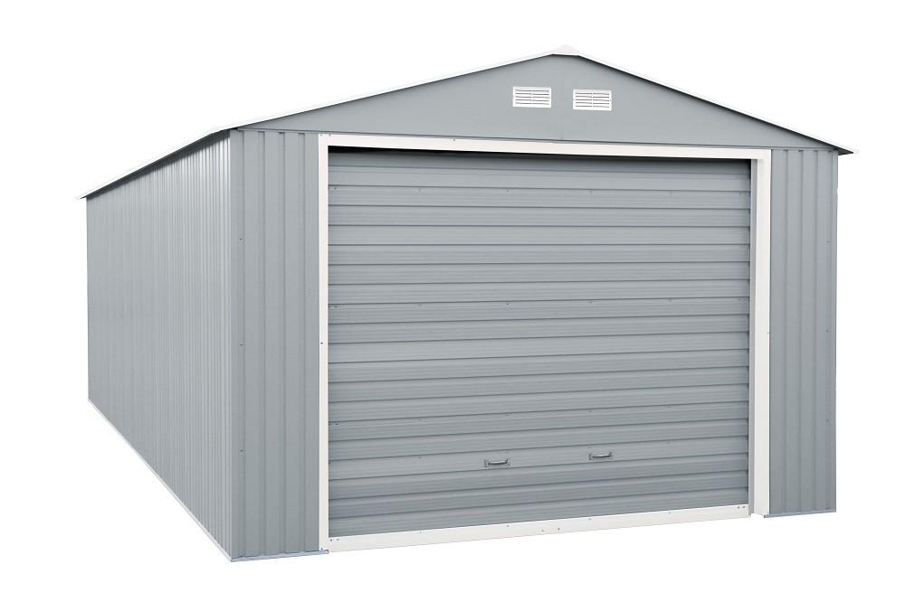 Duramax 55152 12x26 Imperial Metal Garage Light Gray w/Off White Trim