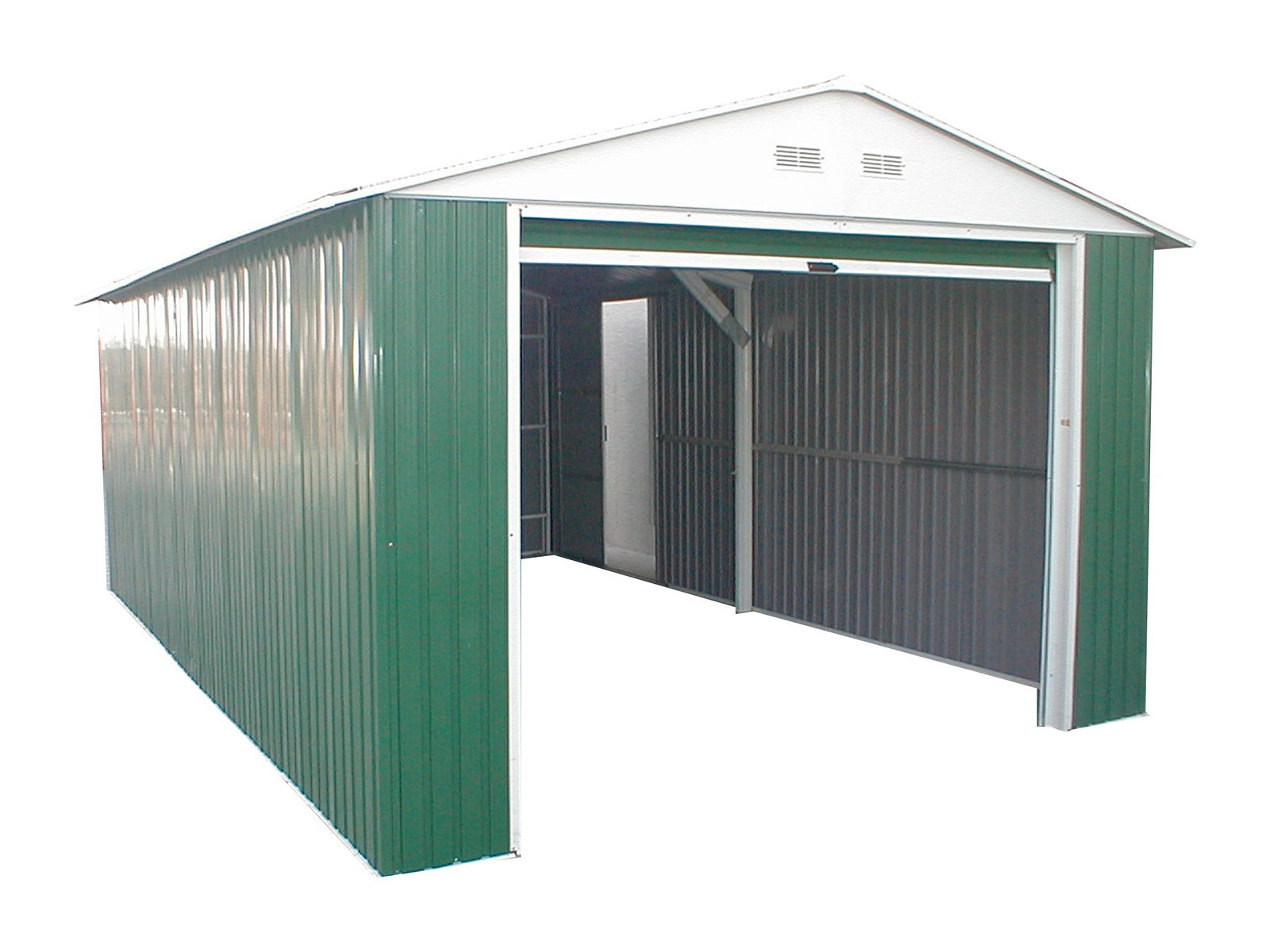 Duramax 54961 Metal Garage – 6' Metal Storage Shed Extension - Green with White Trim