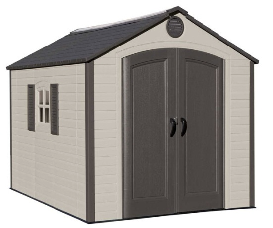 Delicieux Lifetime 60056 8u0027x10u0027 Outdoor Storage Shed With Decorative Shutters