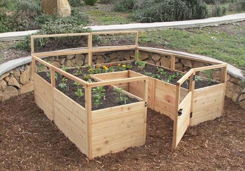Outdoor Living Today - 8x8 Raised Cedar Garden Bed