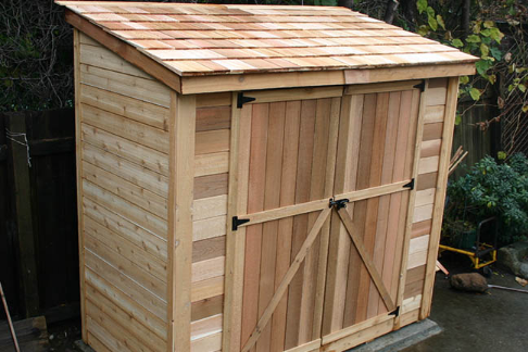 outdoor living today 8x4 space saver lean to style shed with solid