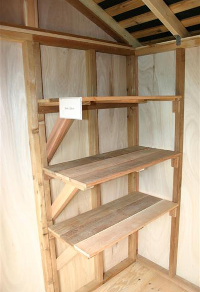 Outdoor Living Today - Shelf Option Kit for 6 Foot Wide Shed (Set of 3)