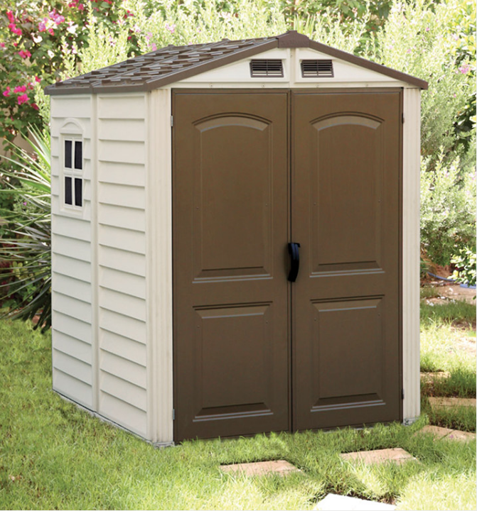 Duramax 30411 – 6'x6' StoreMate Vinyl Shed Includes Floor