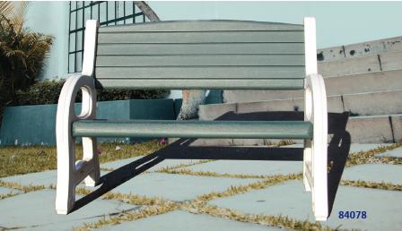 Duramax 84078 - Double Seat Garden Bench White with Sacramento Green