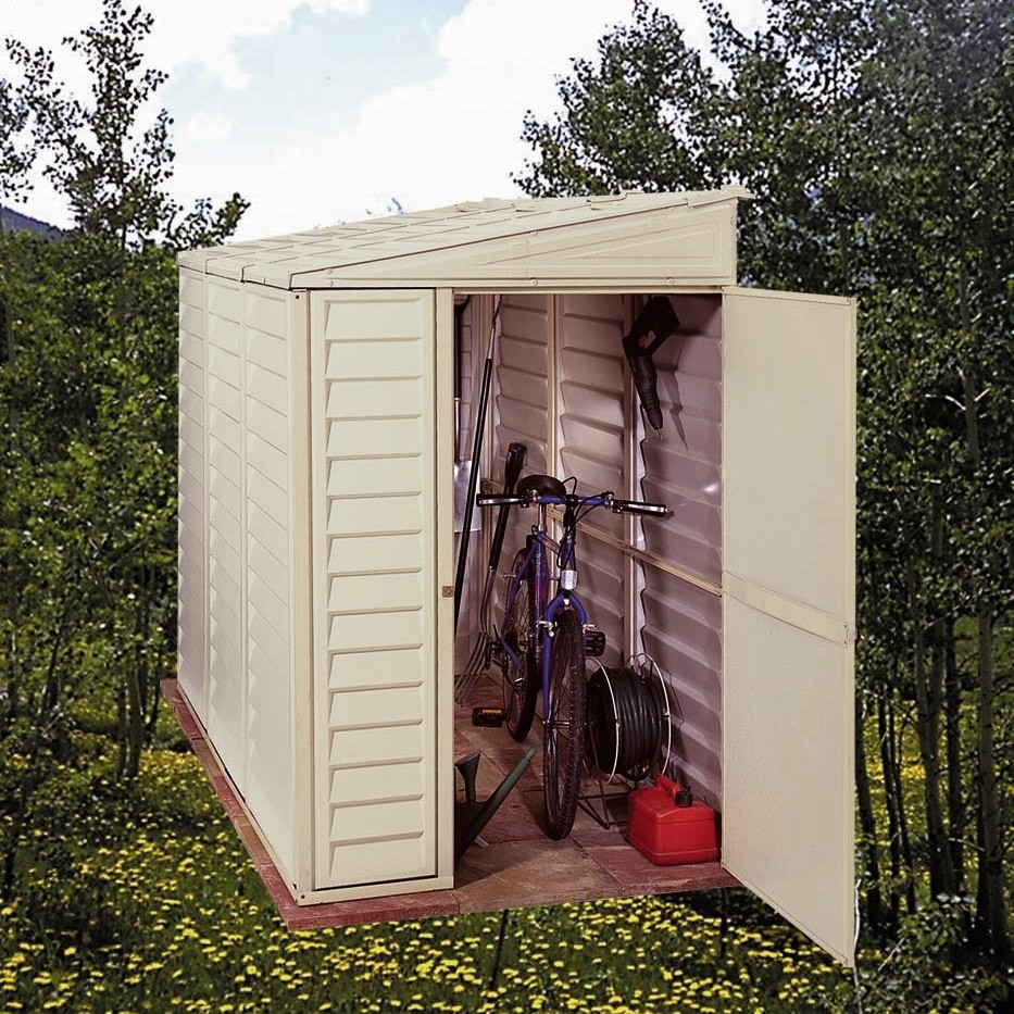 Duramax 00614/06625 – 4'x8' Stronglasting SideMate Vinyl Shed & Foundation
