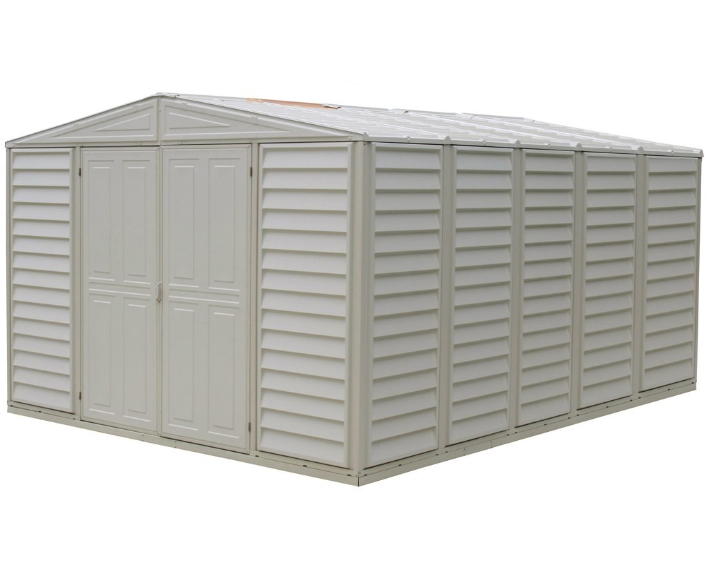 Duramax 00581 – 10.5'x13' Stronglasting WoodBridge Vinyl Shed