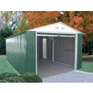 Duramax 50961 Metal Garage – 12'x20' Metal Storage Shed – Green with White Trim