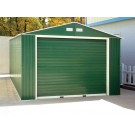 Duramax 55261 Metal Garage – 12' x 32' Metal Storage Shed – Green with White Trim