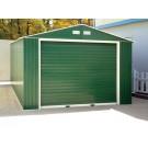 Duramax 55261 Metal Garage – 12' x 32' Metal Storage Shed – Green with White Trim