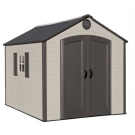 Lifetime 60056 8'x10' Outdoor Storage Shed with Decorative Shutters