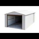 Duramax 54931 Metal Garage – 6' Metal Storage Shed Extension - Off White with Brown Trim