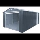 Duramax 54951 Metal Garage – 6' Metal Storage Shed Extension - Dark Gray with White Trim