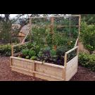 Outdoor Living Today - 6x3 Raised Cedar Garden Bed with Trellis Lid Kit