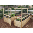 Outdoor Living Today - 8x8 Raised Cedar Garden Bed with Deer Fence Option