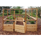 Outdoor Living Today - 8x12 Raised Cedar Garden Bed with Deer Fence