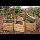 Outdoor Living Today - 8x12 Raised Cedar Garden Bed with Deer Fence