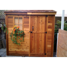 Outdoor Living Today - 8x4 Space Saver Lean To Style Shed - Solid Door