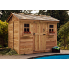 Outdoor Living Today - 9x6 Cabana Garden Shed with Dutch Door & 2 Functional Windows with Screens