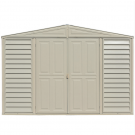 Duramax 00224-1M - 10.5x8 Woodbridge Vinyl Shed Plus Foundation Kit (Non- Extendable)