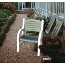 Duramax 84079 - Single Seat Garden Bench White with Sacramento Green