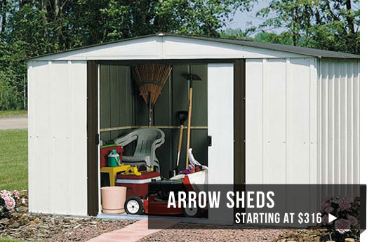 arrow sheds starting at $599
