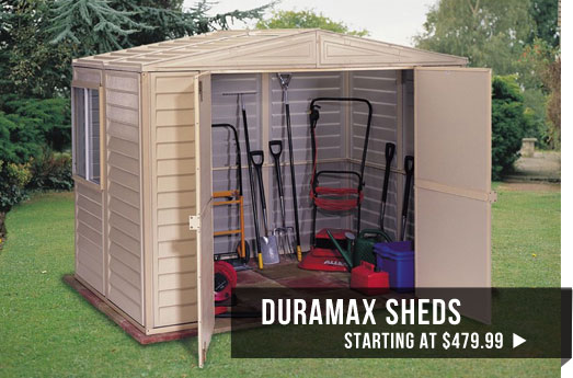 duramax sheds starting at $599